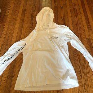 white long sleeve with hood